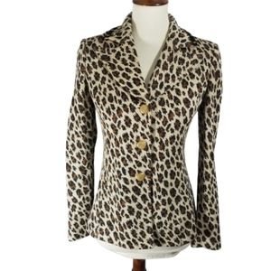 St. John Collection animal print knit blazer sz 2
